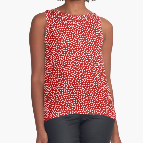 little dotty ~ red micro dotted blouse