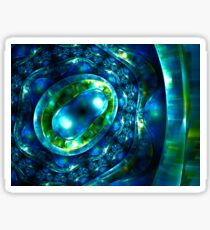 Abstract luxury ornate sparkle blue and green bright pattern. Brilliant ornament background.  Sticker