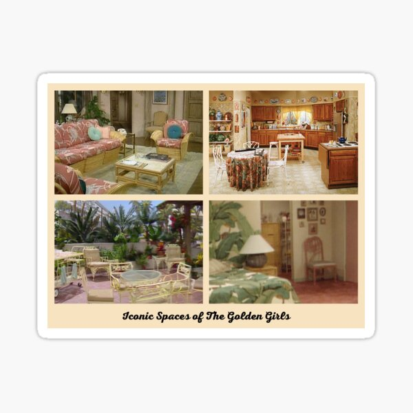 Iconic Spaces of The Golden Girls Sticker