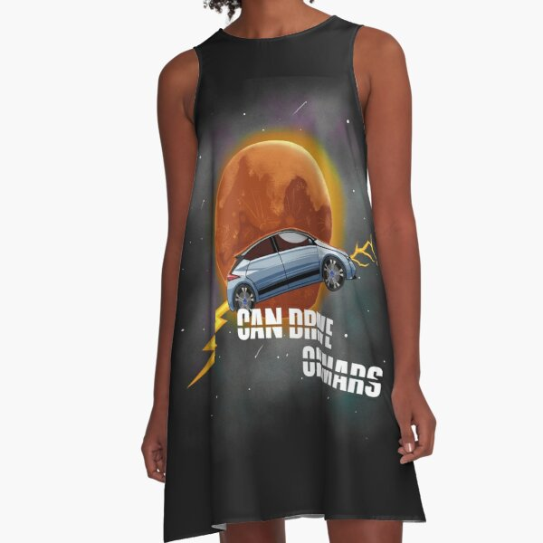 CAN DRIVE ON MARS - Electric Cars A-Line Dress