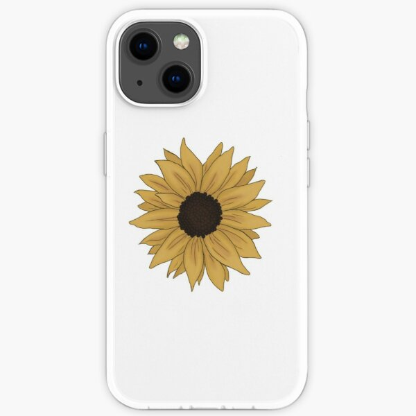a tiny and ligth sunflower iPhone Soft Case