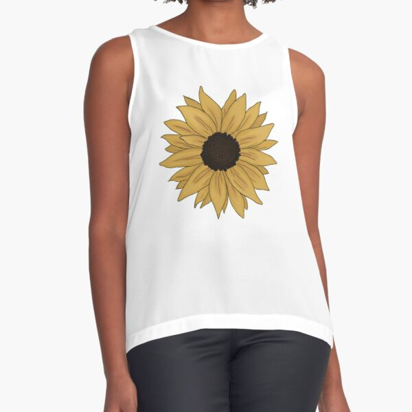 a tiny and ligth sunflower Sleeveless Top
