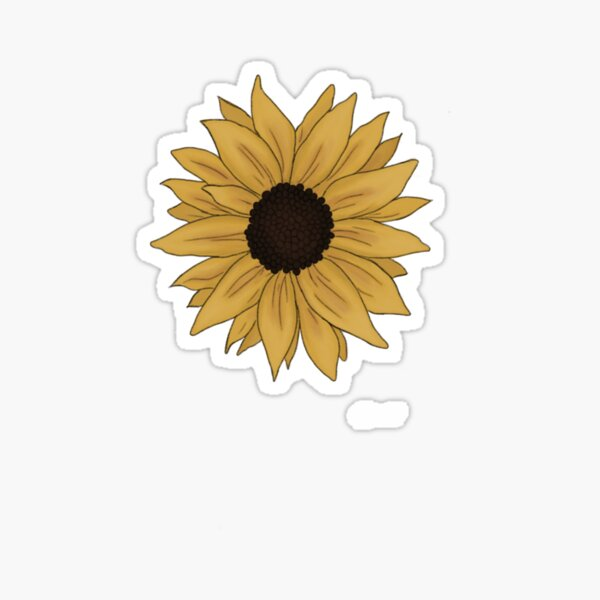a tiny and ligth sunflower Sticker