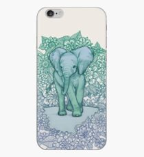 Emerald Elephant in the Lilac Evening iPhone Case