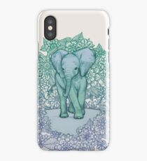 Emerald Elephant in the Lilac Evening iPhone Case/Skin