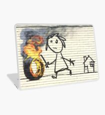 Banksy Bristol School - Wide Laptop Skin