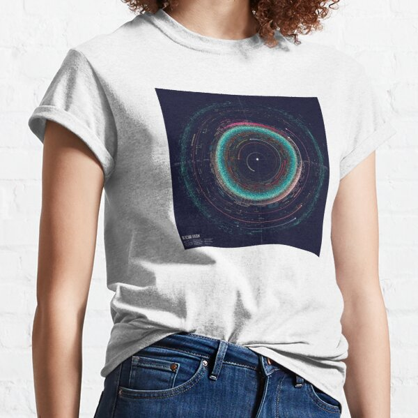 Asteroid Map of the Solar System Classic T-Shirt