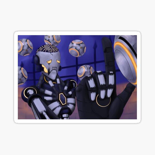 Spooky Robot Uncle Sticker