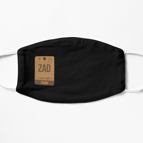 Zadar (ZAD) Croatia Vintage Airport Luggage Tag Gift Idea For Traveller Flat Mask