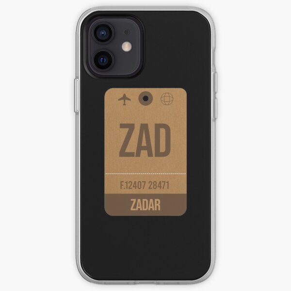 Zadar (ZAD) Croatia Vintage Airport Luggage Tag Gift Idea For Traveller iPhone Soft Case