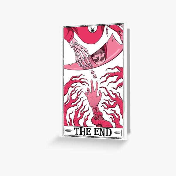 """The End """"Tarotesque"""" (Light) Greeting Card"""