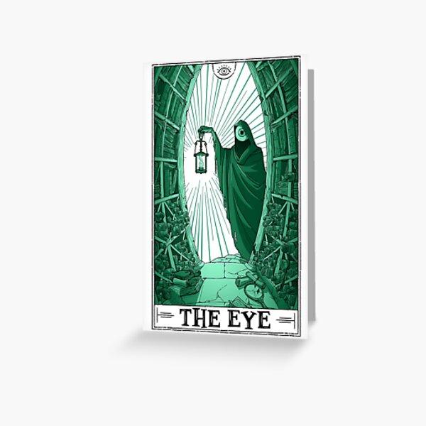 """The Eye """"Tarotesque"""" (Light) Greeting Card"""