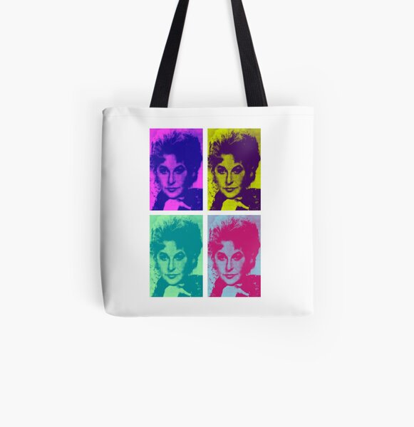 Bea Arthur Goes Pop All Over Print Tote Bag