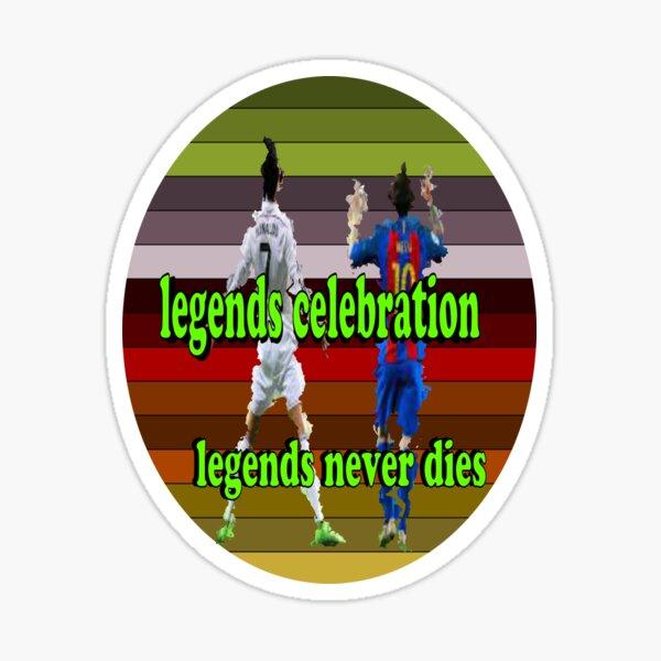 Legenden sterben nie T-Shirt und Mokup-Design Sticker