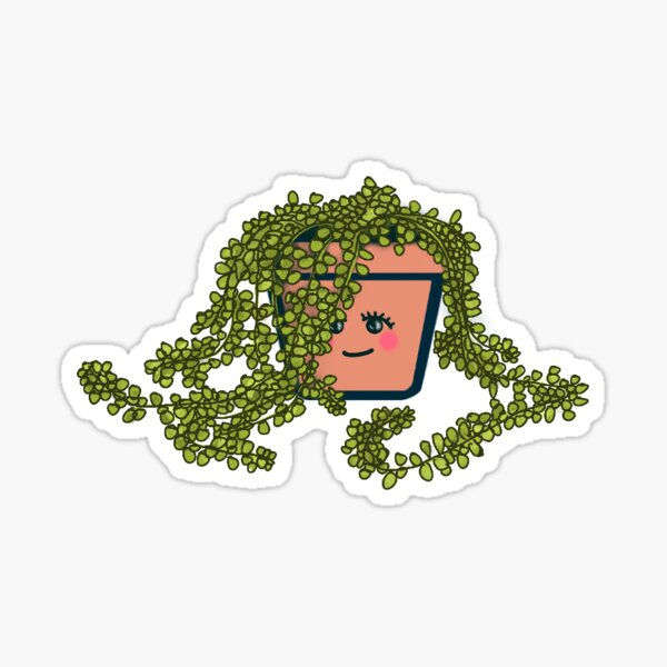 """Cute Potted Plant - """"Tianna"""" Glossy Sticker"""