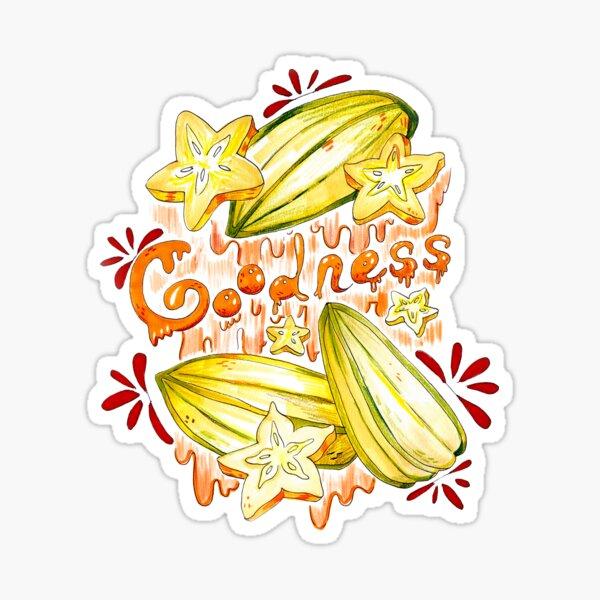 Goodness Star Fruit Sticker