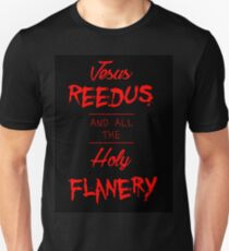 Jesus Reedus And All The Holy Flanery - Black&Red T-Shirt