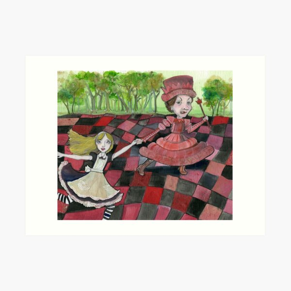Alice and the Red Queen Art Print