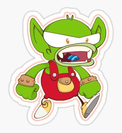 Goblin Bully Green Sticker