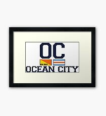 Ocean City - New Jersey. Framed Print