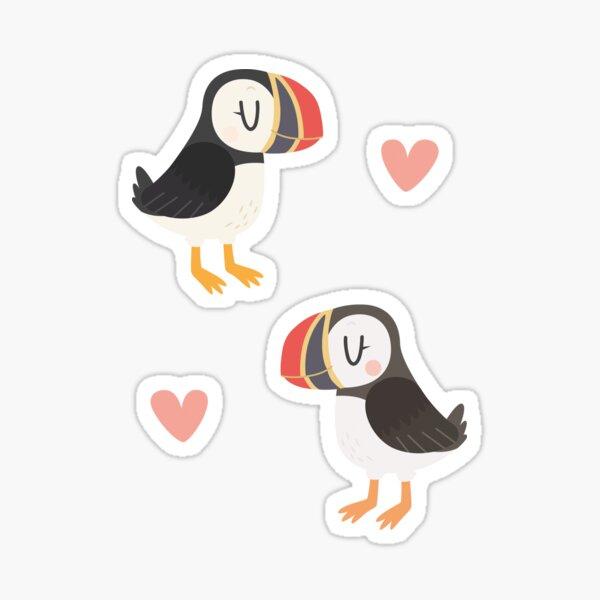 Puffins In Love Sticker