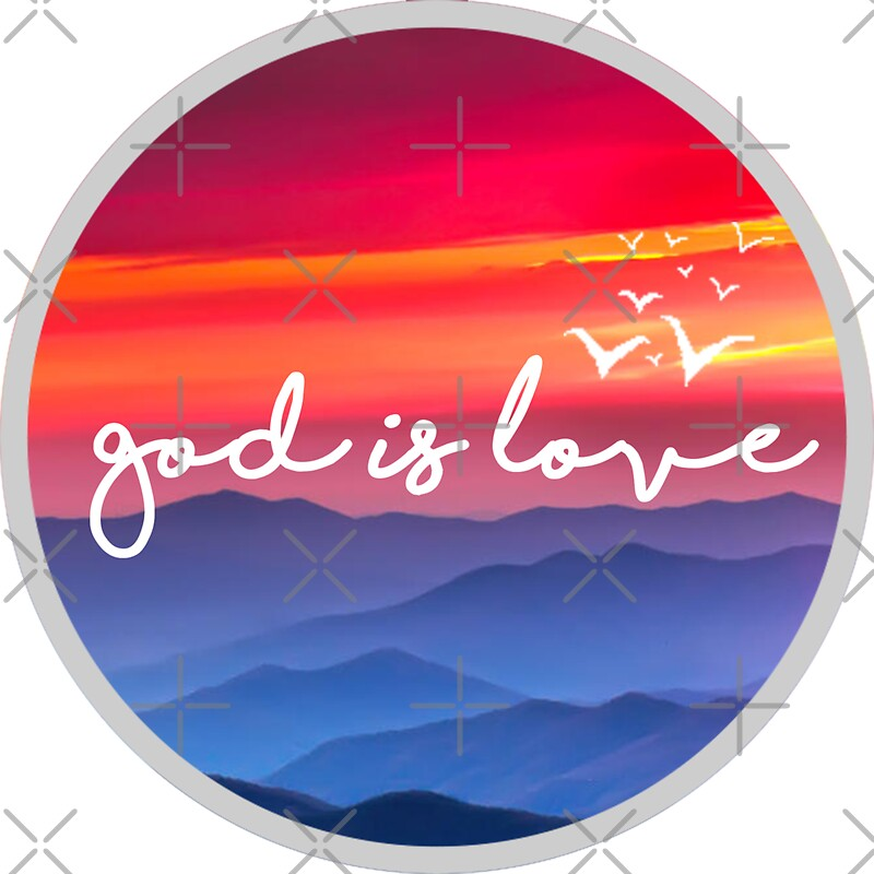 """Religious Flat Acrylic: """"Christian Quote"""" Stickers By Bethel Store"""