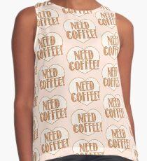 NEED COFFEE heart Contrast Tank