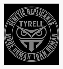 TYRELL CORPORATION - BLADE RUNNER (GREY) Photographic Print