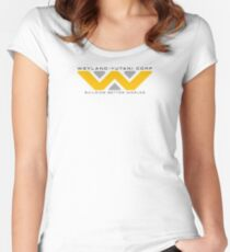 Weyland-Yutani (black font) Women's Fitted Scoop T-Shirt