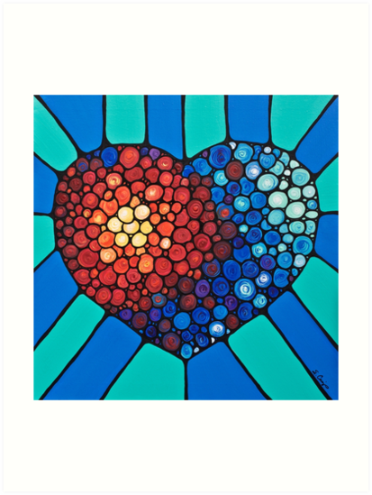 Heart Art - Love Conquers All 2  by Sharon Cummings