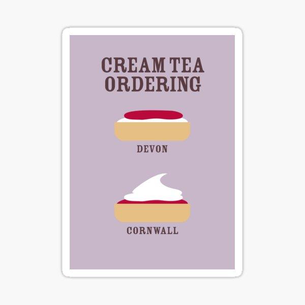 CREAM TEA ORDERING Sticker