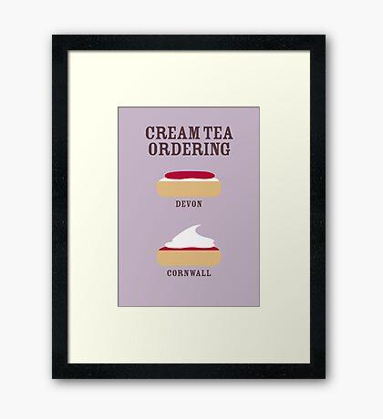 CREAM TEA ORDERING Framed Print