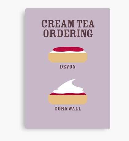 CREAM TEA ORDERING Canvas Print