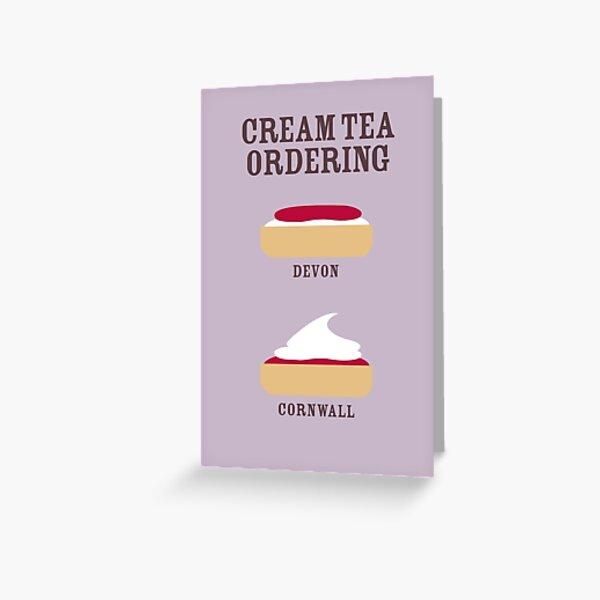CREAM TEA ORDERING Greeting Card