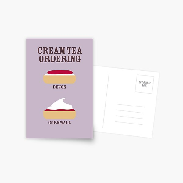 CREAM TEA ORDERING Postcard