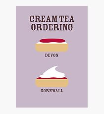 CREAM TEA ORDERING Photographic Print