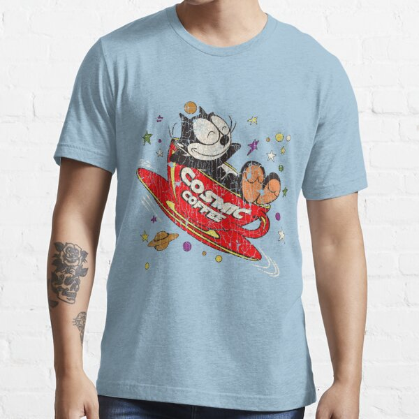 Felix The Cat Cosmic Coffee Vintage Essential T-Shirt