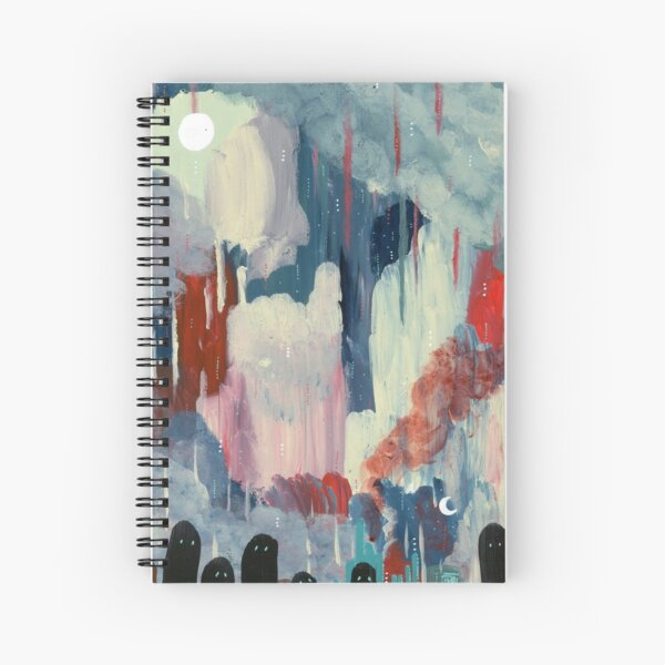 partially abstract, mostly ghosts Spiral Notebook