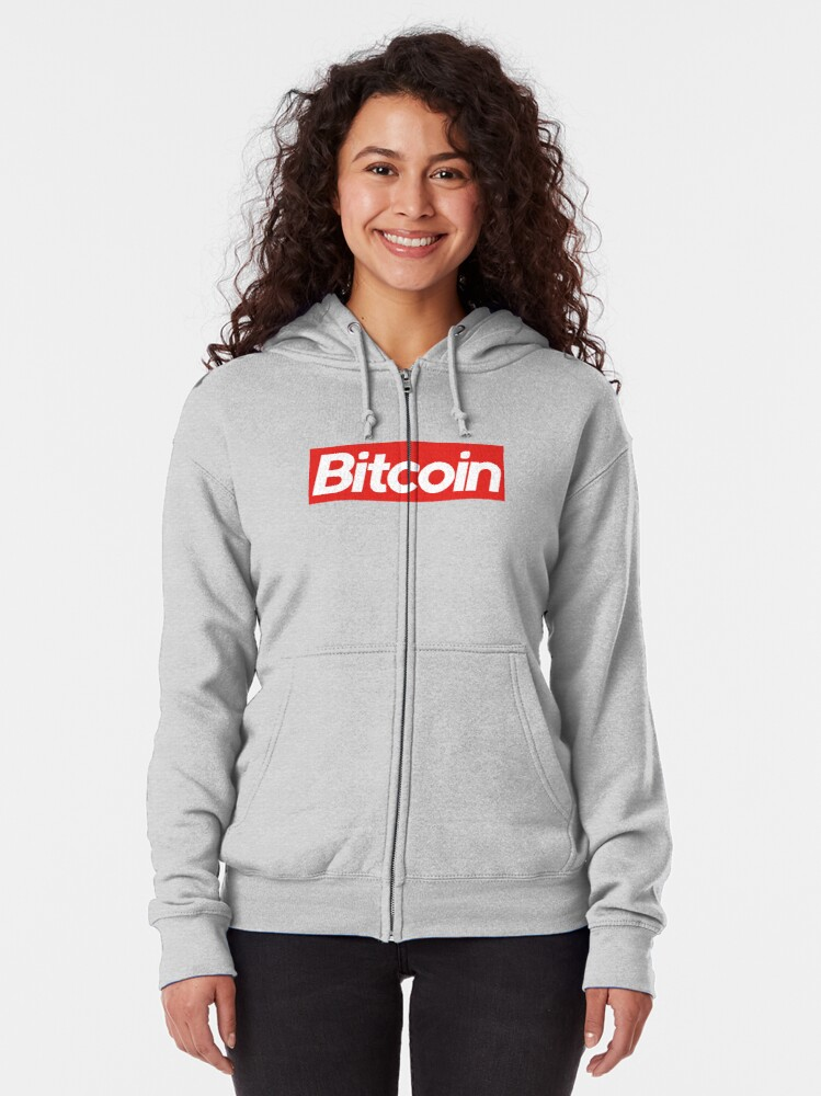 Alternate view of Bitcoin Supreme Zipped Hoodie