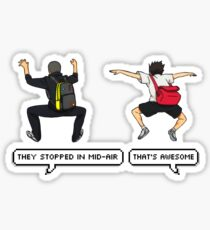 haikyuu [ they stopped in mid-air ] version 2 Sticker