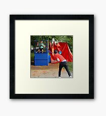 Dunk Tank Framed Print