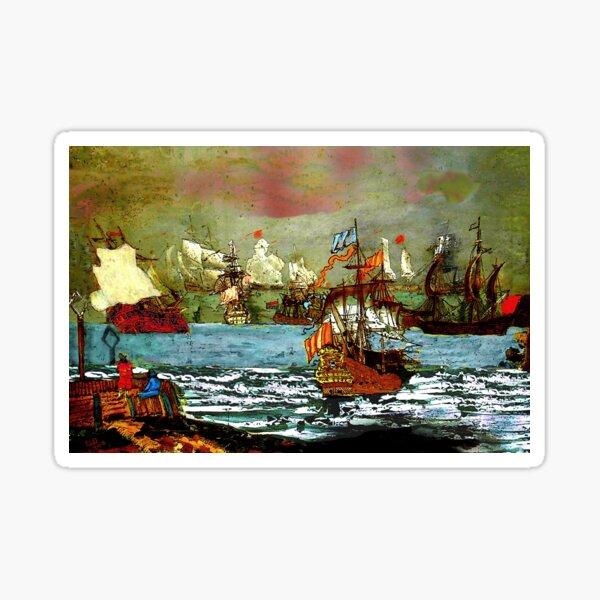 Ships at Sea Sticker