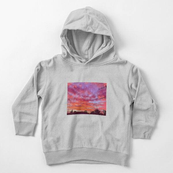 Tangerine and Lilac Sunrise Toddler Pullover Hoodie