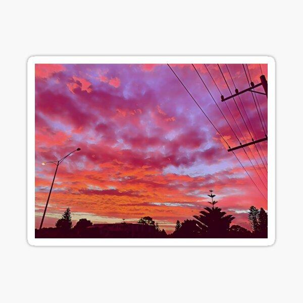 Tangerine and Lilac Sunrise Sticker