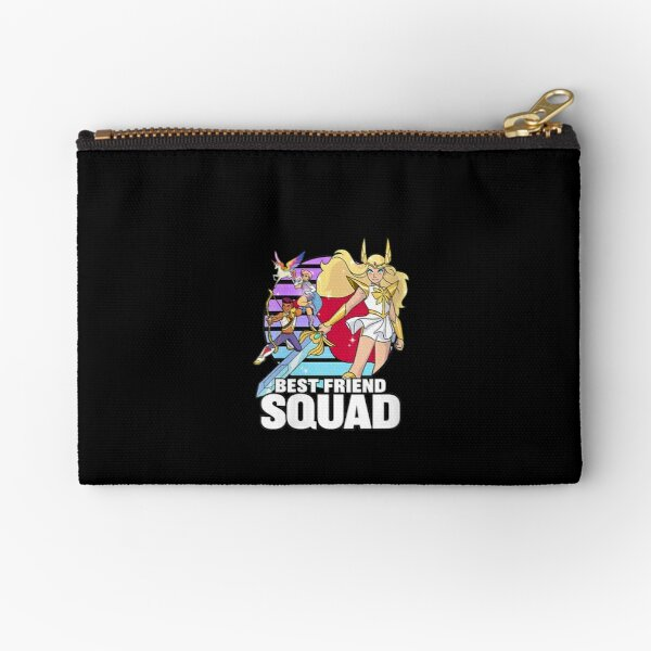 Womens-She-ra-And-The-Princess-Of-Power-Best-Friend-Squad-V-neck Zipper Pouch