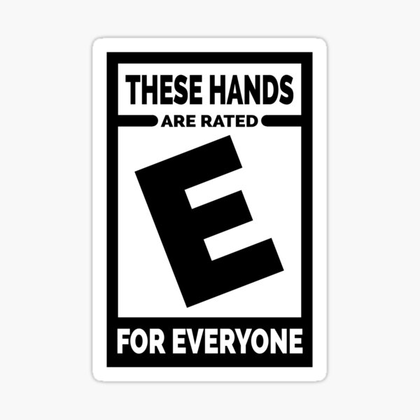 E-bewertete Hände Sticker