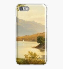 DIDAY, FRANCOIS () Swiss lake landscape, probably a view from Meiringen towards Lake Brienz iPhone Case/Skin