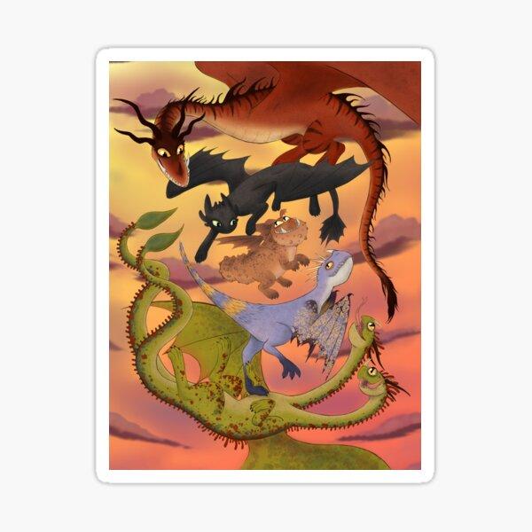 Dragon Companions Sticker