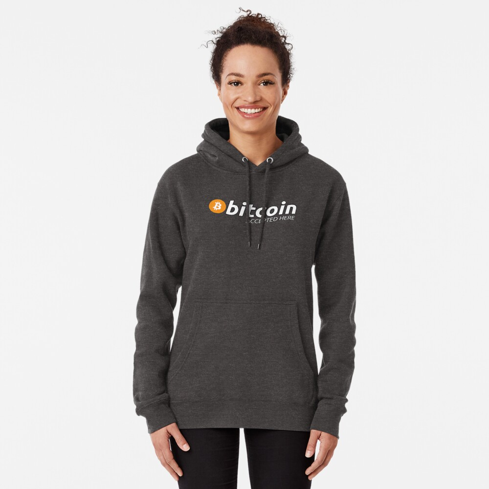 Bitcoin Accepted Here Pullover Hoodie