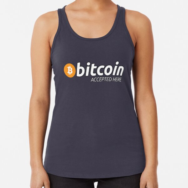 Bitcoin Accepted Here Racerback Tank Top